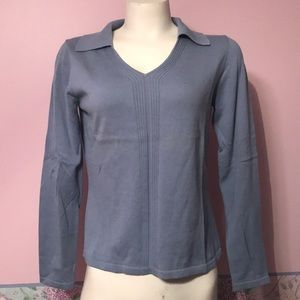 NWT Collared V neck sweater